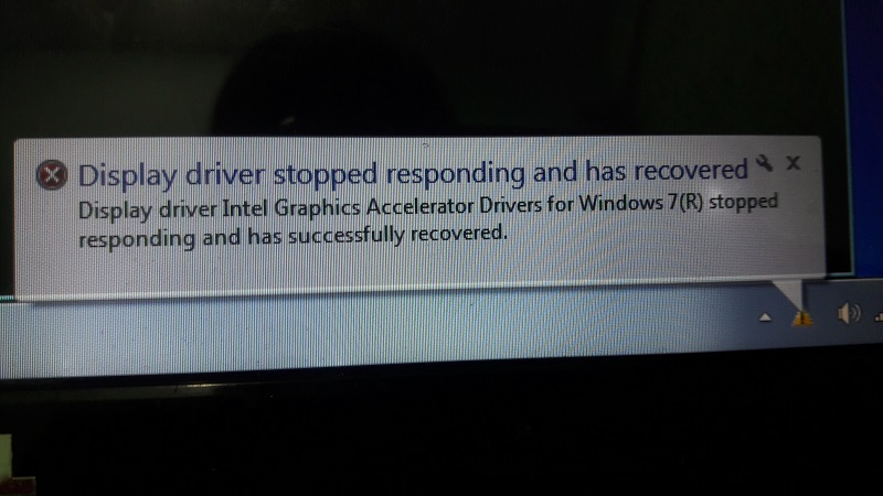 Cách sửa lỗi display driver stopped responding and has recovered win 7