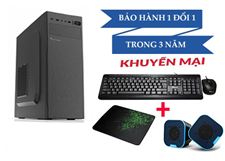 Main H410M Cpu i3-10100 Ram 4GB HDD 500G+SSD 120G